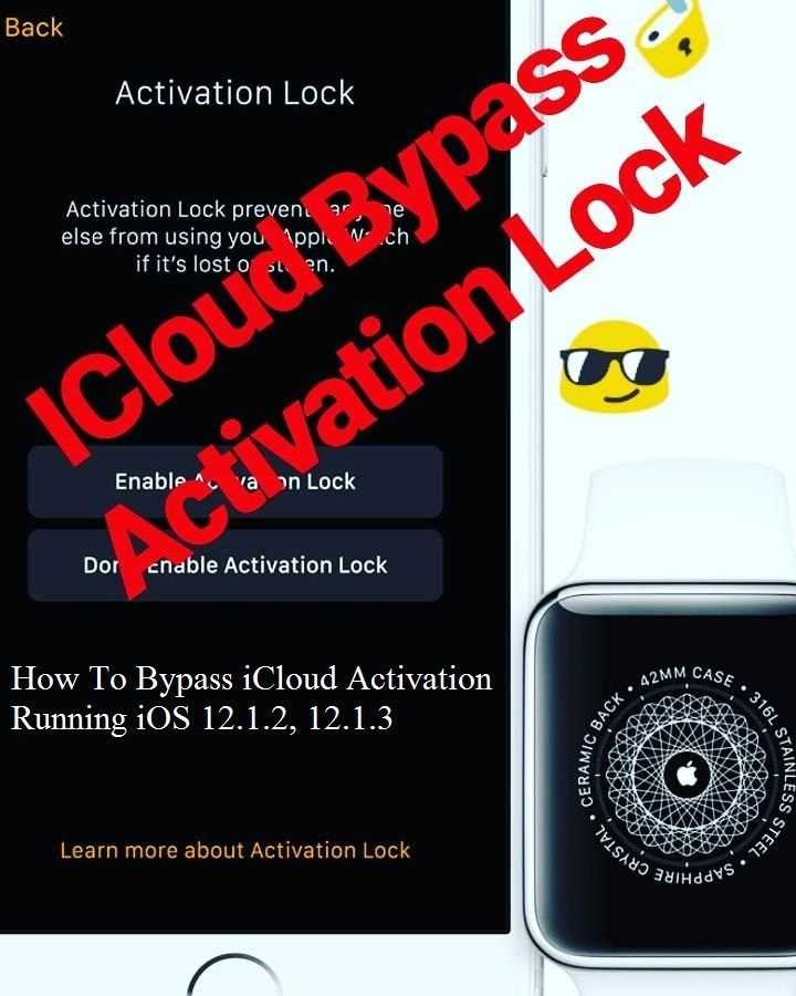 Bypass iOS 12 1 2 iCloud Activation lock   ios 8 gailbreak guids and