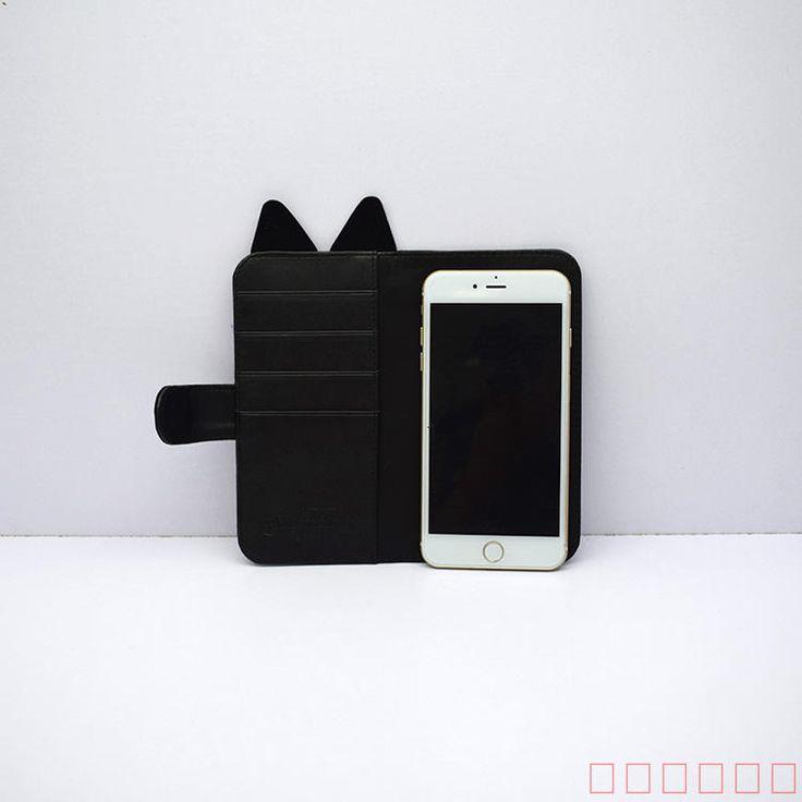 2017 2018最新美少女戦士セーラームーン猫ねこルナ携帯ケース手帳型収納バッグ 白猫アルテミス猫ミミ耳iphone8/7s/7 iPhone6SPlus