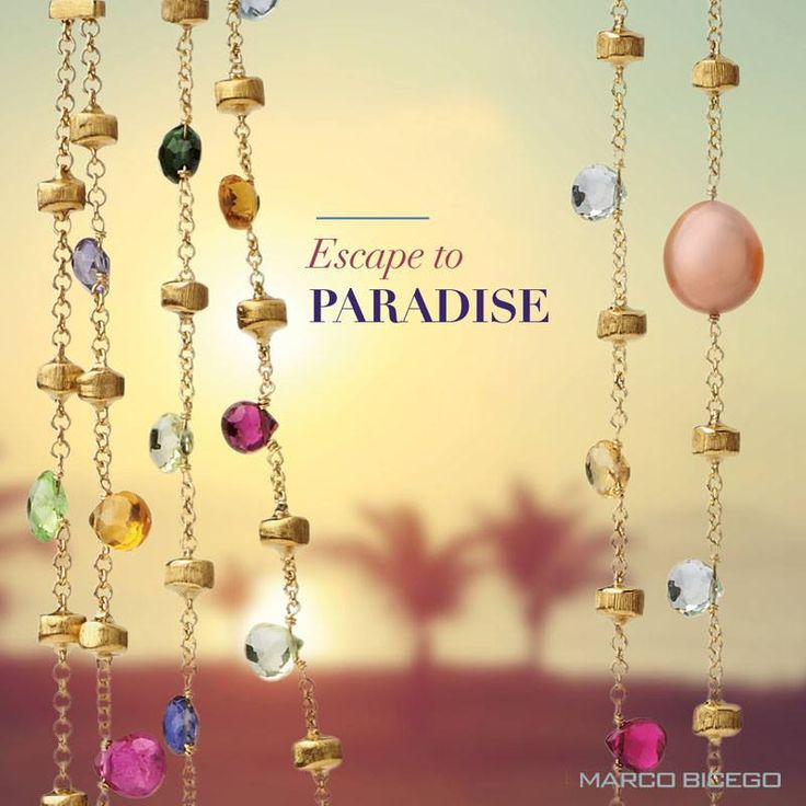 Marco Bicego's Paradise Collection starting at $680.  Striking, Colorful, Versatile, Beautiful Explore Marco Bicego at Miami Lakes Jewelers www.miamilakesj.com  #MiamiLakesJewelers #MarcoBicego