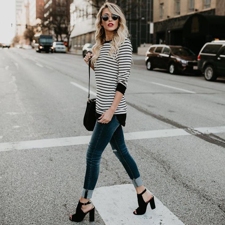 Anika Longline Stripe Top