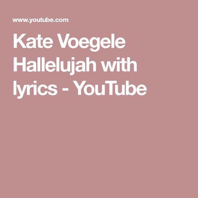 Kate Voegele Hallelujah With Lyrics Youtube Ukulele Pinterest