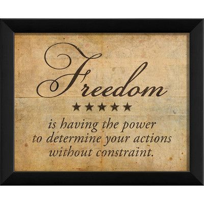 The Artwork Factory Freedom Definition Framed Textual Art