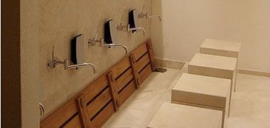An up-market ablution area