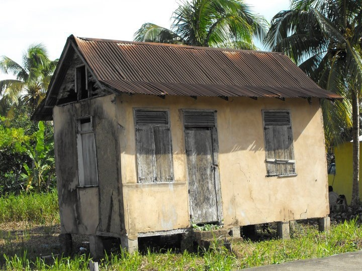 An old tapia house most likely built as slaves and for Trinidad houses