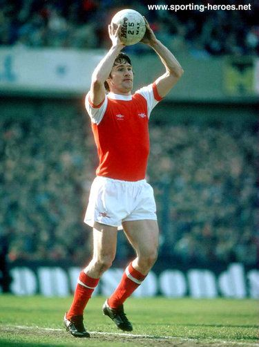 Pat Rice - Arsenal FC - League appearances for The Gunners.