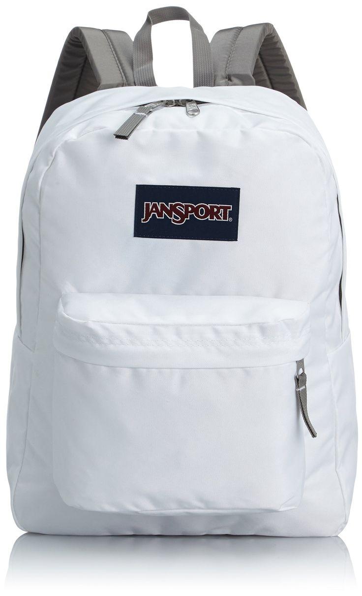 Amazon.com: Jansport Superbreak Backpack (White): Jansport: Clothing #student #bags #travel