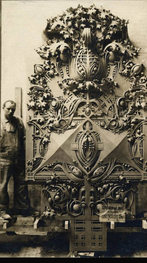 Louis Sullivan (American, 1856-1924) National Farmers' Bank of Owatonna, Minnesota, 1908 Architectural Details