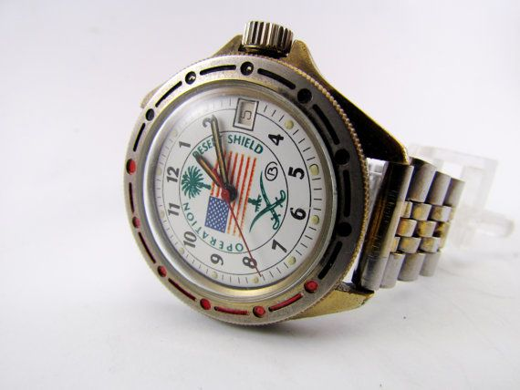 Soviet Vostok Operation Desert Shield men's diver's