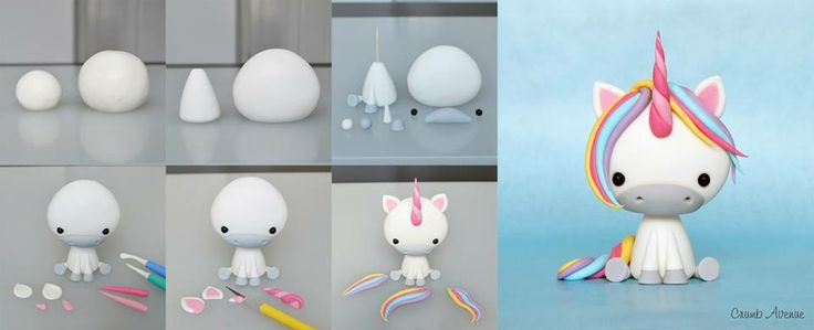 how to make a baby unicorn topper