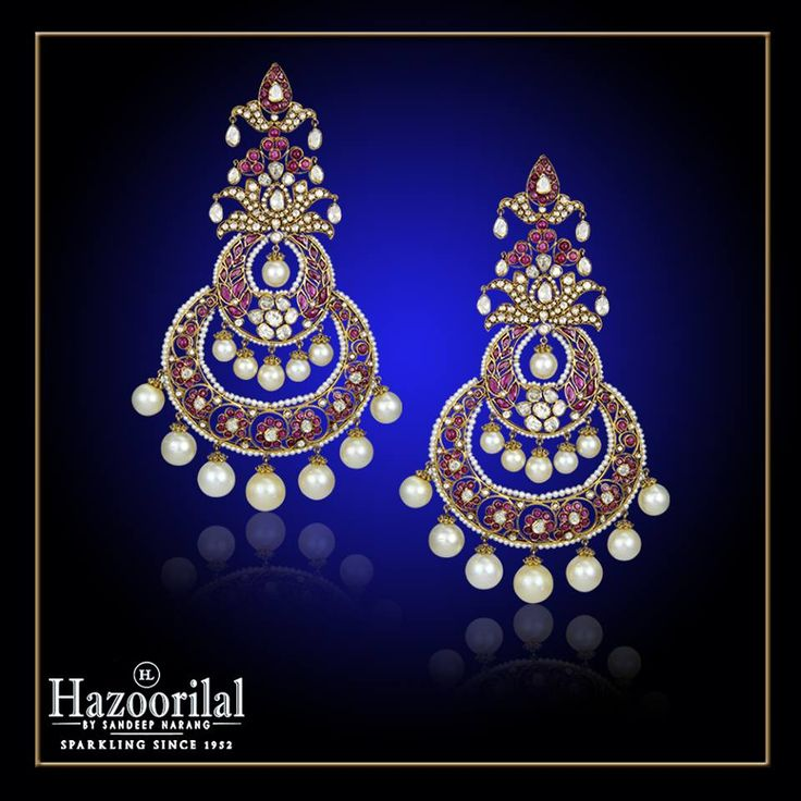 This impeccable piece of jewellery in rubies and old cut diamonds exemplifies the superb craftsmanship at the House of #HazoorilalBySandeepNarang #Polki #UncutDiamonds #OldMineCut #Rubies #TraditionalJewellery #Chaandbaali #BridalJewellery #Hazoorilal