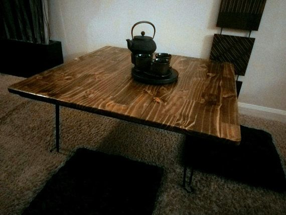 Ready To Ship Fabulous Chabudai Dining Table With Folding Hairpin