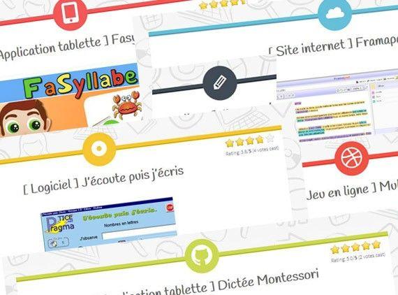 Ressources-numeriques.fr est un catalogue collaboratif de ressources numériques pour l'école primaire.
