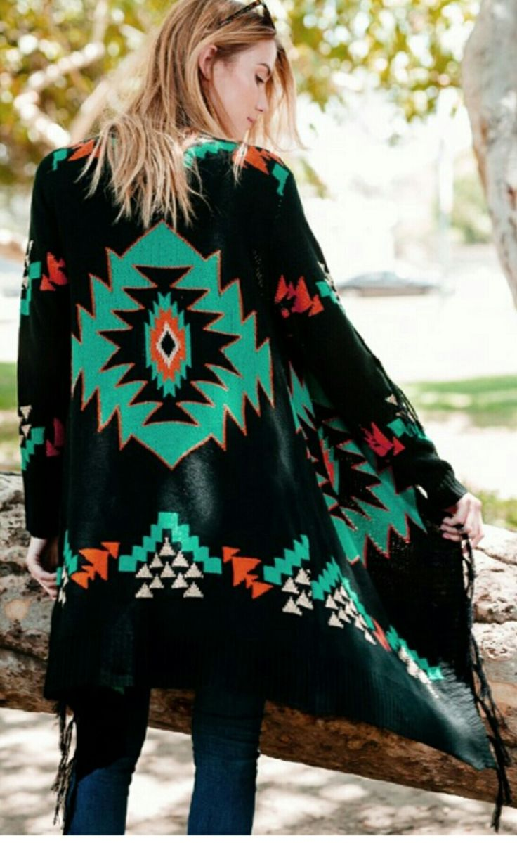 Stunning aztec cardigan coming in september!! Save this pin! Www.baharanchwesternwear.com