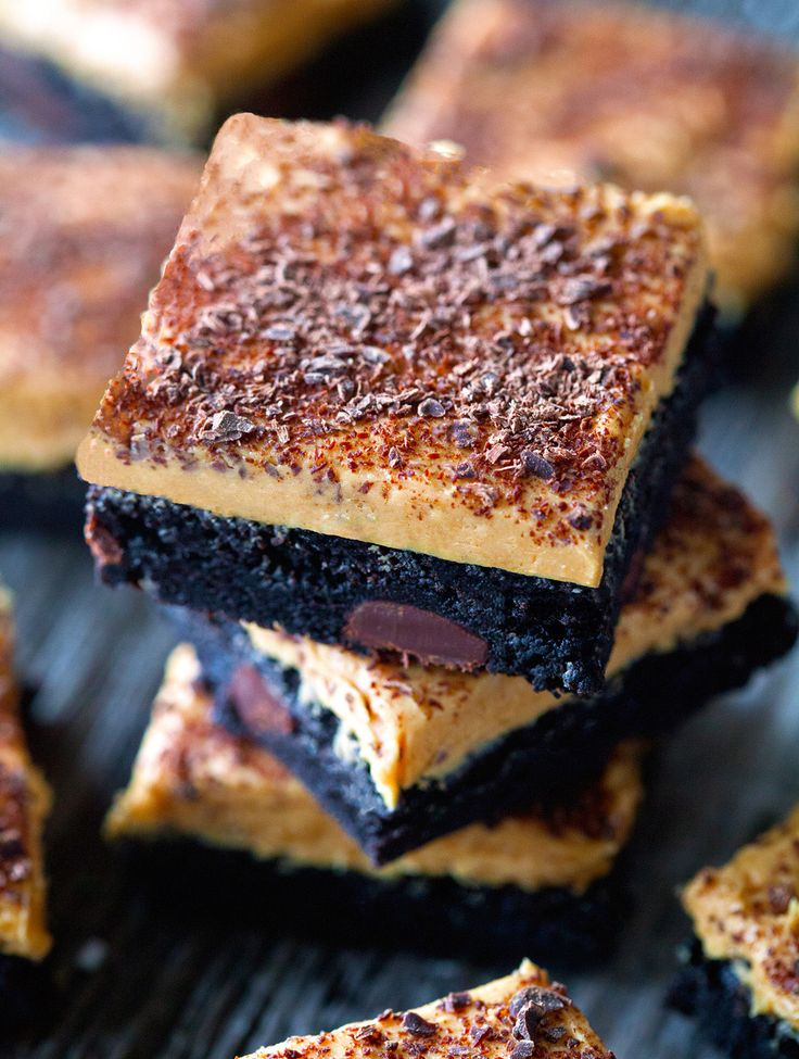 Fudgy Peanut Butter Brownies with Chocolate Shavings | Recipe | Peanut ...