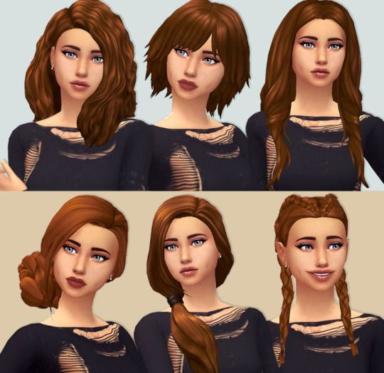 The Sims 4 hair | Sims | Sims, Tumblr sims 4, Sims 4