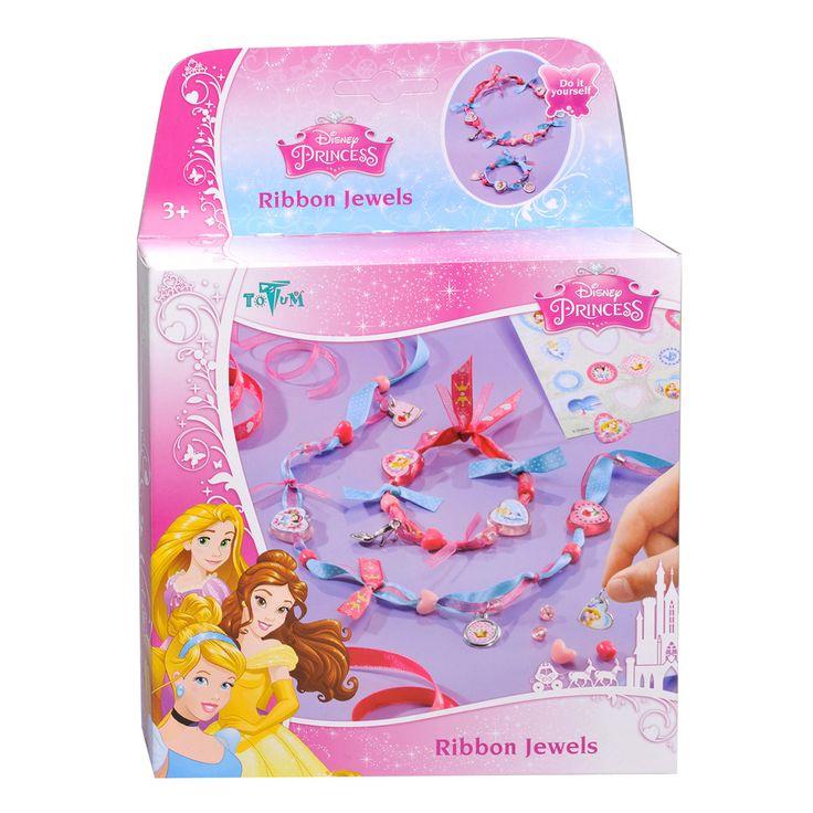 Afmeting: verpakking 17,5 x 17,5 x 3,5 cm - Disney Prinses Linten Sieraden Maken