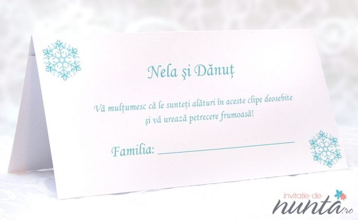 Plic de bani Winter Wonder, cu fulgi de nea bleu, perfect pentru o nunta de iarna.