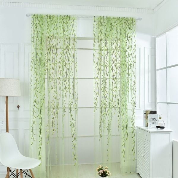 Norbi Willow Voile Tulle Room Window Curtain Sheer Voile Panel