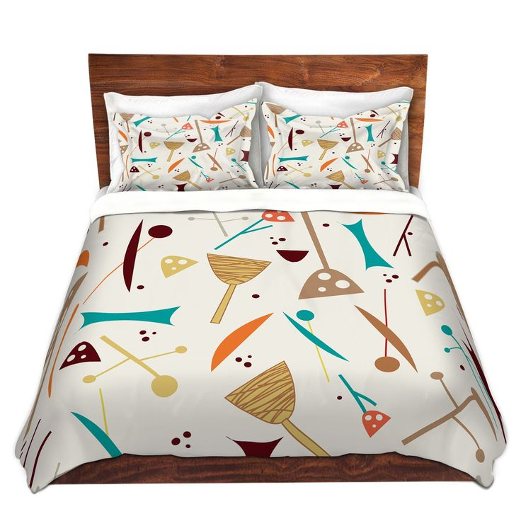 Unique Duvet Covers And Shams | Nika Martinez   Mid Century Hero Cream  #nikamartinez #