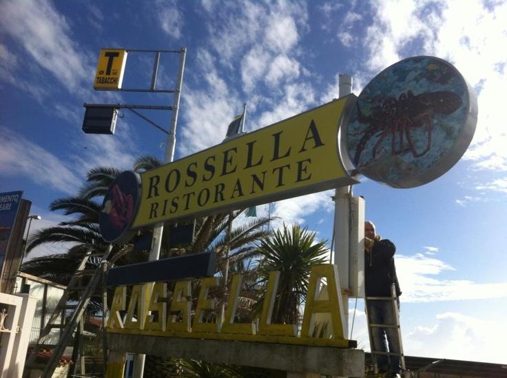 Restyling insegna Bagno Rossella - Viareggio