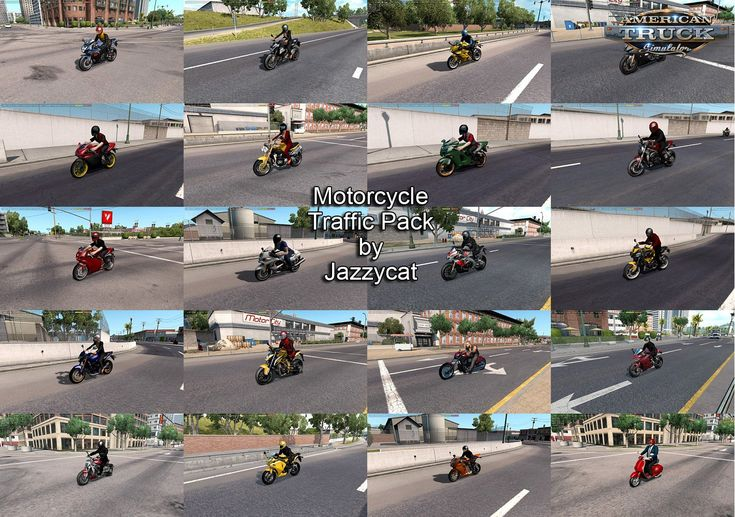 Motorcycle Traffic Pack (ATS) by Jazzycat v3.0.2 ATS