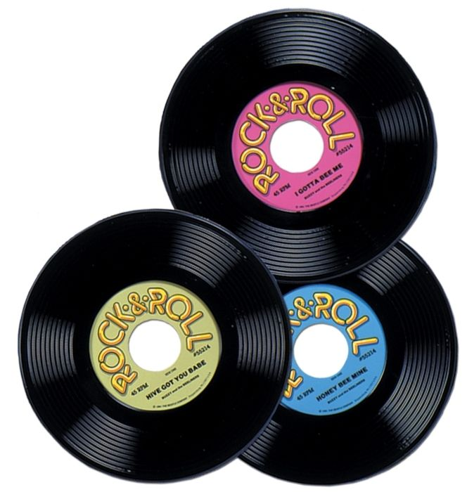 Rock n Roll Party Records | Party Decorations | 50's Party Supplies | Australia Wide Delivery