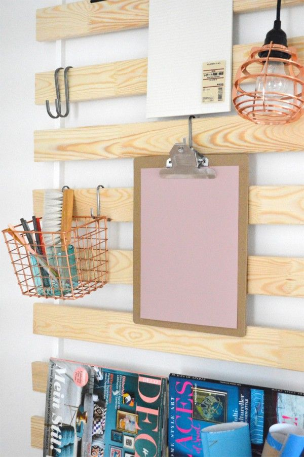 IKEAhack stain the wood and hang on the side of the pantry
