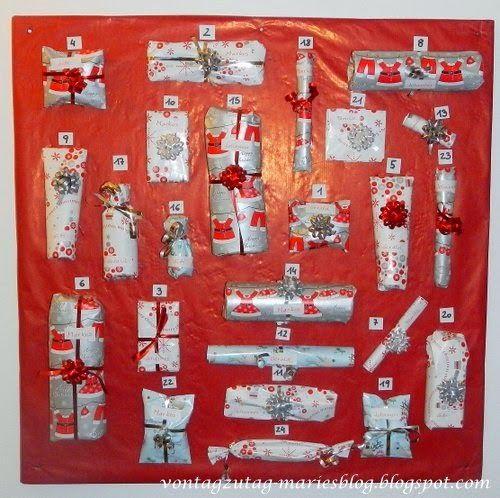 @vontagzutagmari Unser Familienadventkalender. 24 kleine Päckchen, für jeden ist etwas dabei. http://vontagzutag-mariesblog.blogspot.co.at/