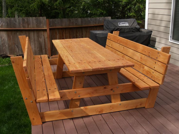 I Kept Telling Ed Wanted A Picnic Table For The Deck He Built Me