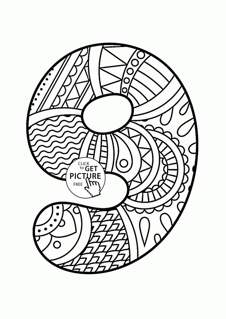 104 best Alphabet&Numbers coloring pages images on