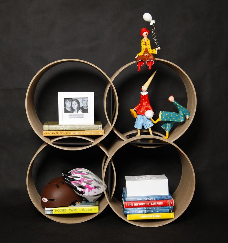 estante oras bolas by roberta s faustini feita com reaproveitamento de tubetes de papelo - Deckideen Fr Modulare Huser