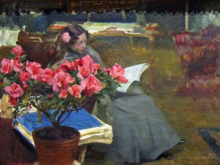 Clotilde en el estudio. 1890