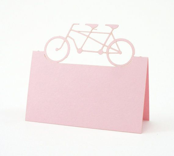 Bicycle Place Cards  Wedding Place Card Table by JonNiPaperGoods