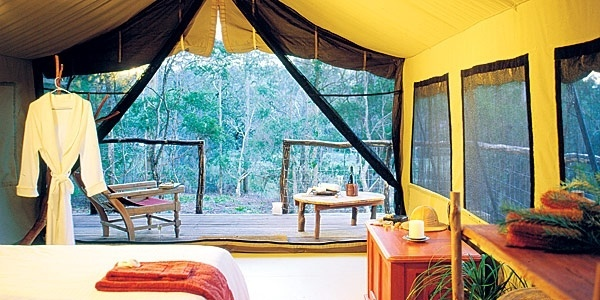 Ready for bed?     Experience true tranquility in an Original Safari Tent at Paperbark Camp.