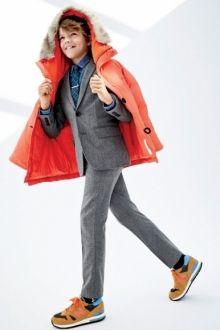 MOMOLO | fashion kids |  Anoraks J. Crew, Suit Jacket J. Crew, Blazers J. Crew, Tie J. Crew, Sneakers New Balance, girl, 20141220203728