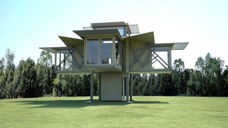 Αυτό το σπίτι μπορεί να διπλωθεί και να ξεδιπλωθεί μέσα σε 10 λεπτά!