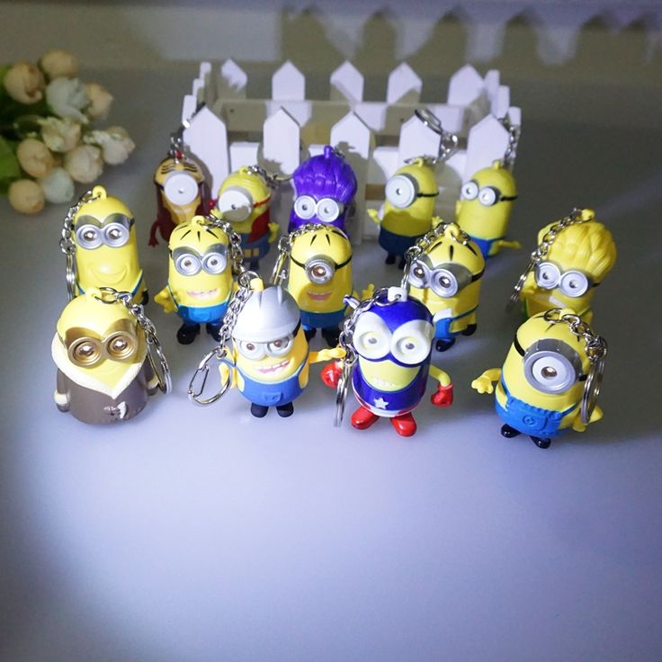 Wholesale 18 kinds of Led Minions Keychains,Despicable Me 3 minion,talk Minions with flashlight and sound,led keyrings #Affiliate