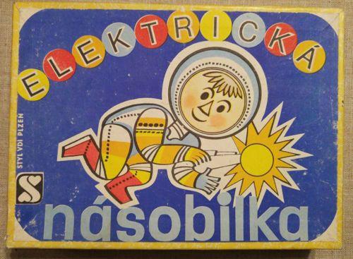 Vintage 1978 Elektrická násobilka educational game mathematics Czechoslovakia
