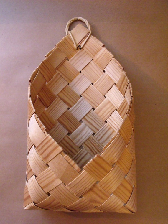 Vintage Finnish Chip Basket / Finland Wood Chip by CenturyTrader, €14.00