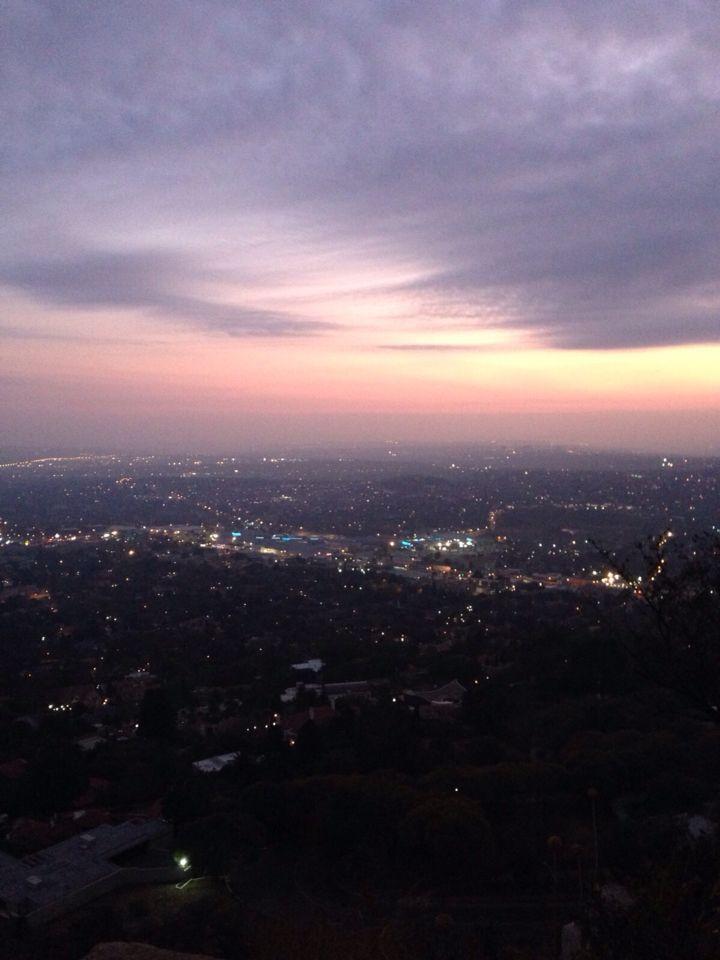 Sunrise in Johannesburg, Northcliff Hill