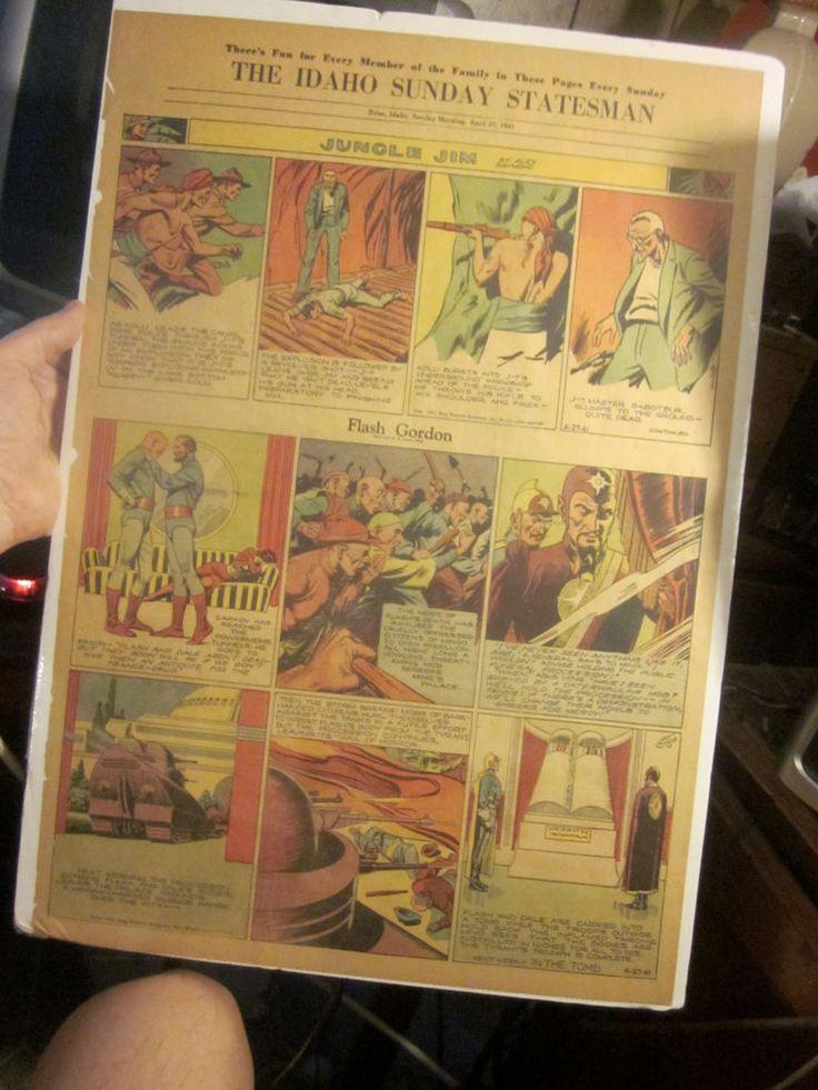 FLASH GORDON Sun. Newspaper Strip April 27, 1941 ALEX RAYMOND shrinkwrapped