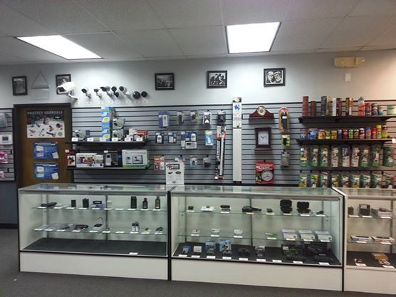 One of our locations in Dallas showing off their beautiful display of gadgets and personal defense.