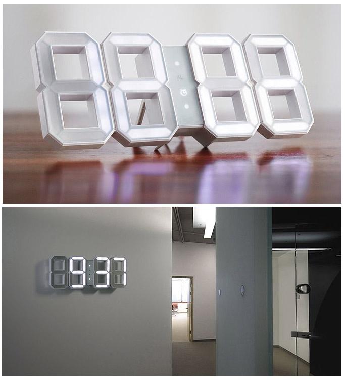 White LED clock