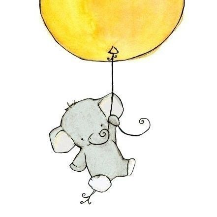 this is the cutest elephant I have ever seen -nursery artwork - children's illustration prints