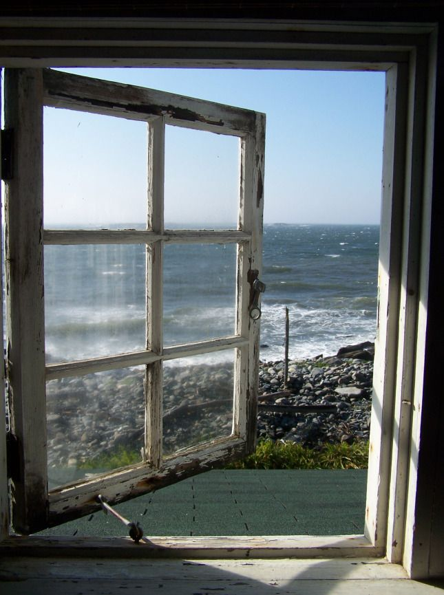The cottage is in Port Clyde, Maine and looks out to the ocean facing Monhegan Island.