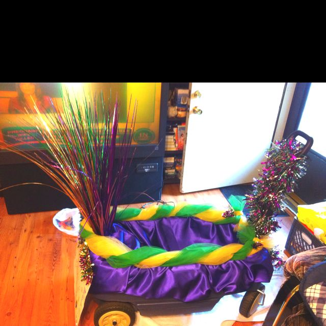 """Let the good times roll!"" Mardi Gras  float for school by me."
