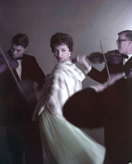 virginia thoren - lucinda with violinists, 1958