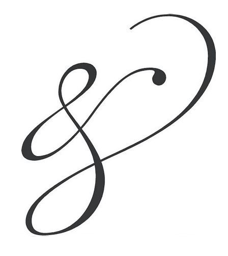 "Ampersand Tattoo -- (Resembling A Broken Infinity, The Ampersand Reminds Us That Nothing Truly Lasts Forever But There Is Always An ""And"")"