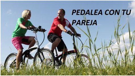 San Valentín nueva alternativa ... pedalea con tu pareja. Propiedad de componentes bicicleta baratos en Zaragoza.