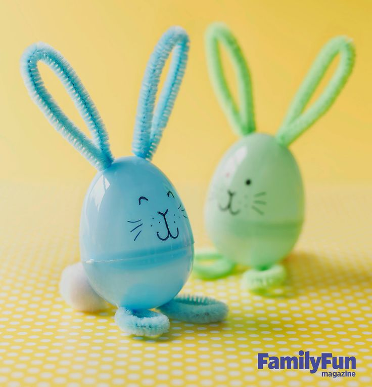 Easter Bunny Plastic Egg Craft